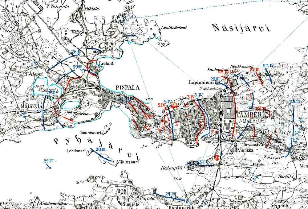 Tampereen Kartta 1918